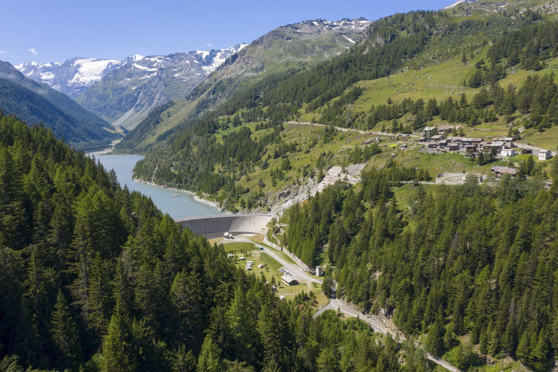 Diga di Beauregard Gruppo CVA Energia idroelettrica
