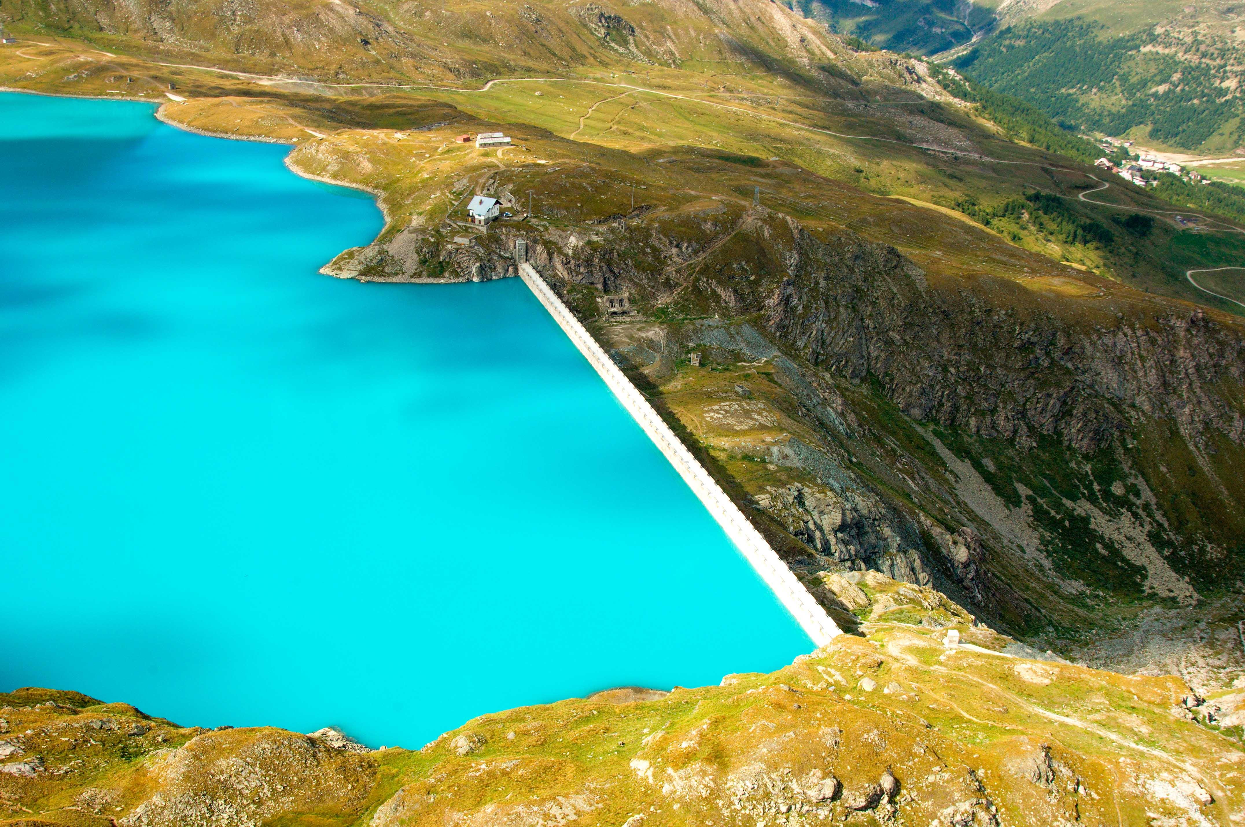 Diga del lago del Goillet