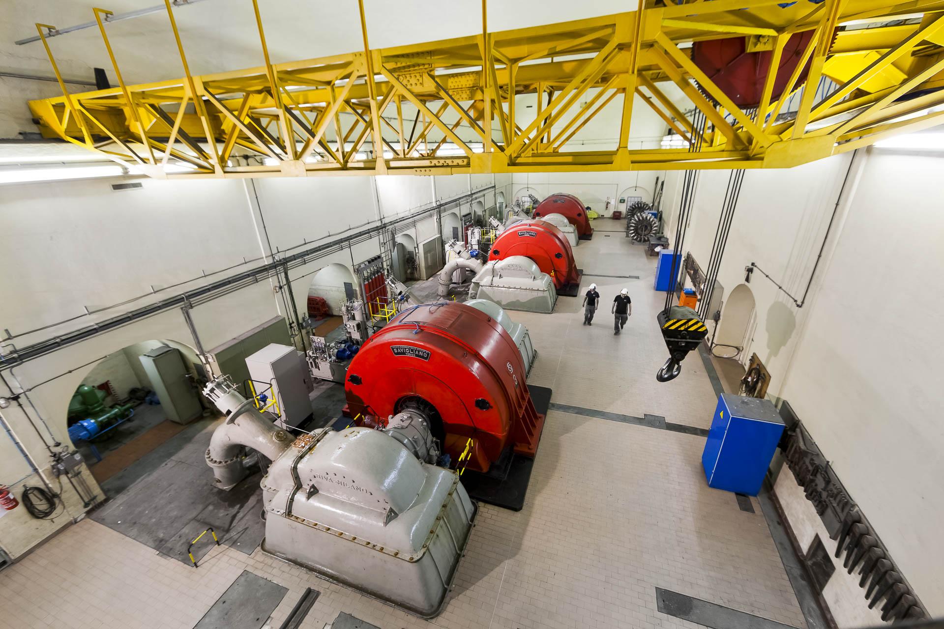 Centrale idroelettrica di Signayes produzione gruppo CVA
