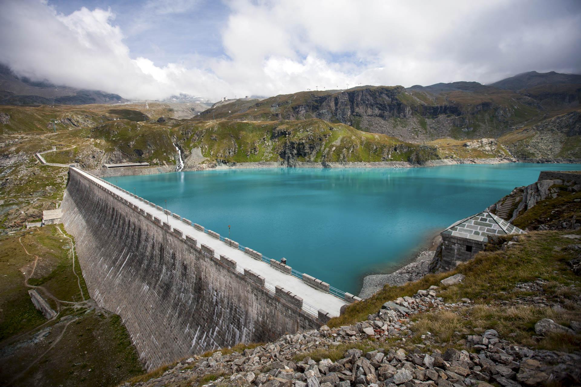 Diga del Goillet impianto idroelettrico Gruppo CVA Energia rinnovabile