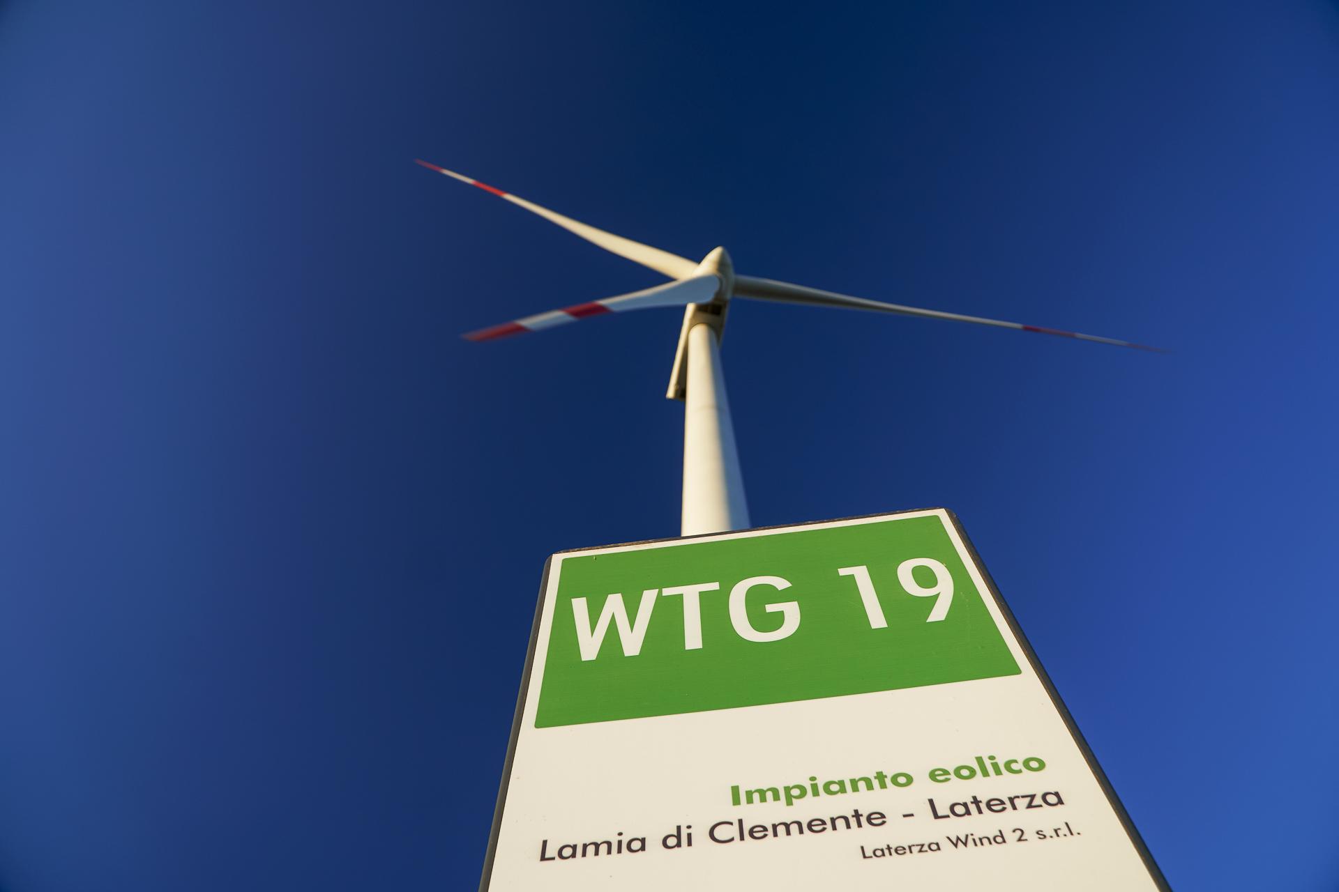 Impianto energia verde eolica di Lamia di Clemente CVA